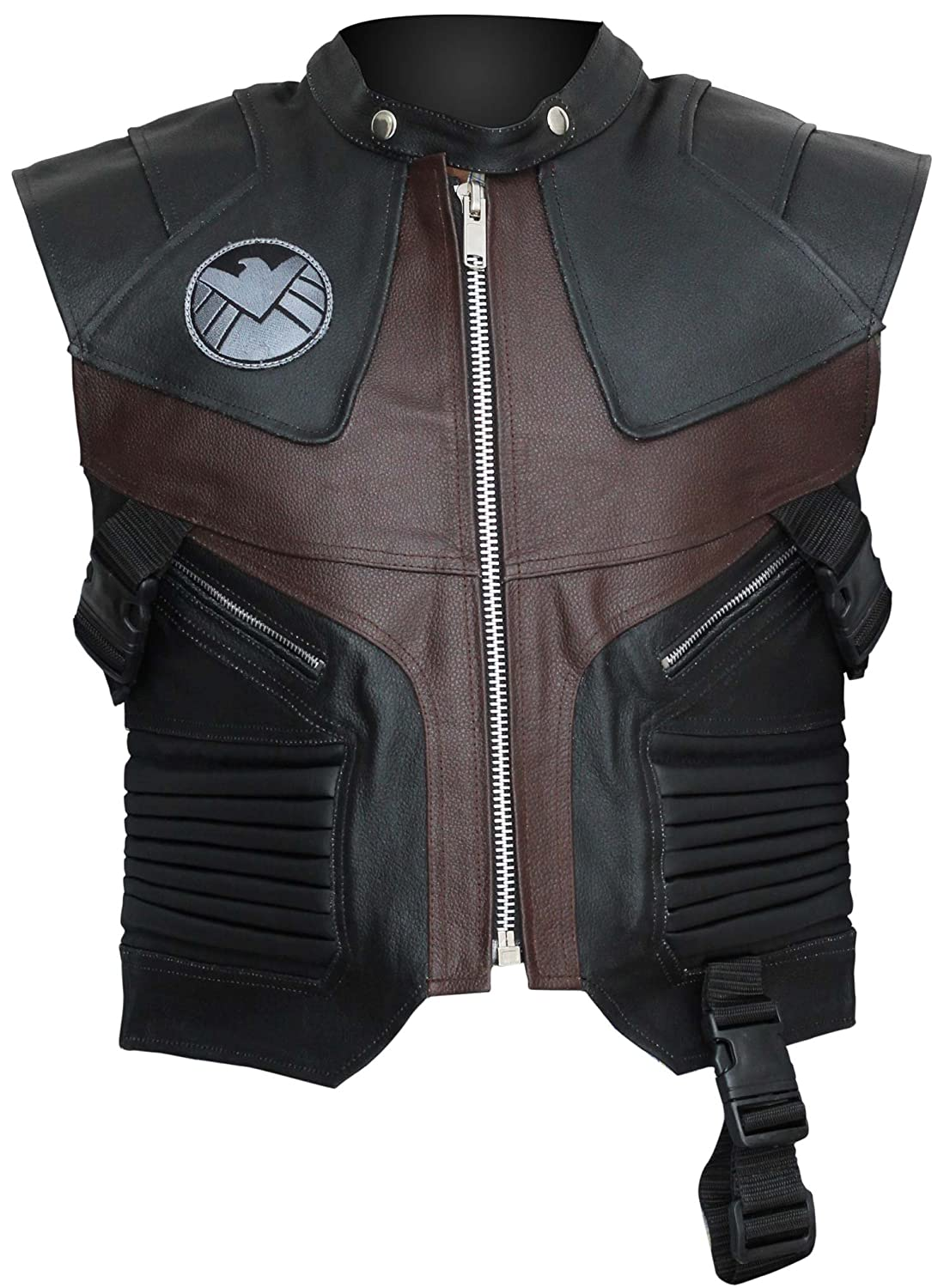 The Avengers: Age of Ultron Hawkeye Real Leather Costume Vest - DeluxeAdultCostumes.com