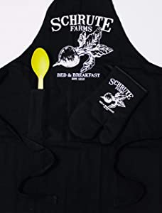 Schrute Farms Beets Bed and Breakfast Premium Apron with Oven Mitt Set The Office Inspired Gift for Fans