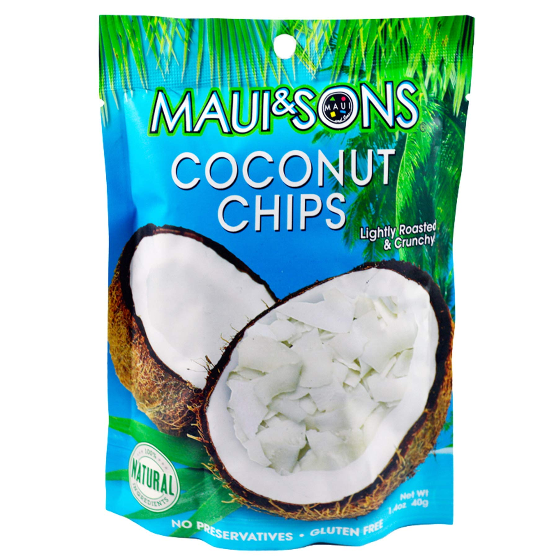 (Pack of 72) Maui & Sons Coconut Chips