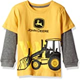 John Deere 2 - Camiseta para bebé, Color Gris