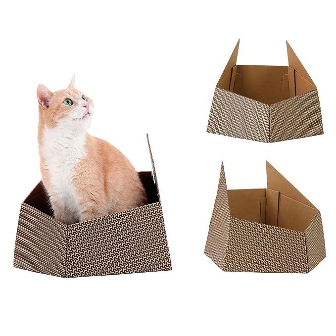 United Pets 8028945022866 Caja de Cartón para Gatos: Amazon.es: Productos para mascotas
