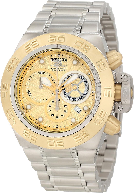 Invicta Men s 10146 Subaqua Noma IV Chronograph Gold Tone Textured Dial Watch