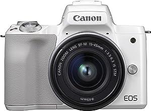 Canon EOS M50 - Kit de cámara EVIL de 24.1 MP y vídeo 4K con objetivo EF-M 15-45mm IS MM (pantalla táctil de 3