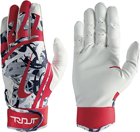 b63b6534a4f2 Amazon.com   Nike Youth Trout Edge Batting Gloves 2018   Sports ...