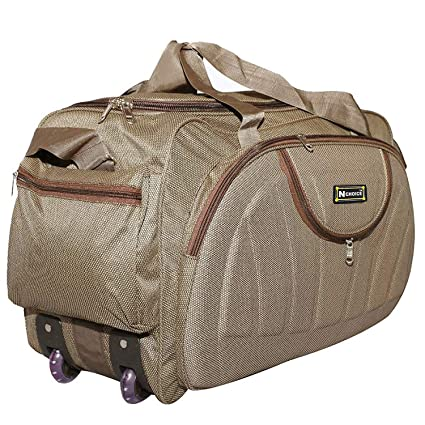 2d4957baf3 La Polo Fabric 2 Wheeler Travel Duffel Bag (Brown)  Amazon.in  Bags ...