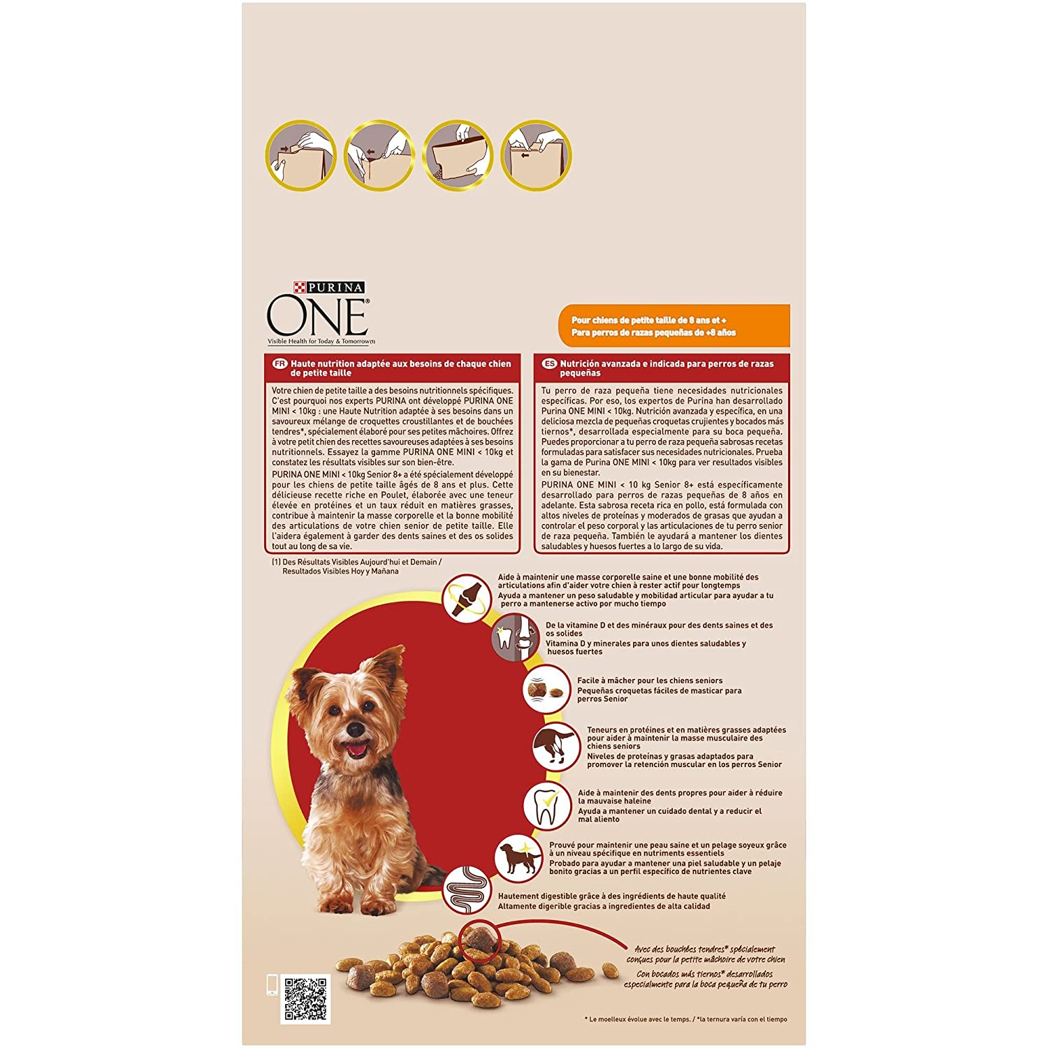 Purina ONE Mini Pienso para Perro Senior Pollo y Arroz - Pack de 8 x 800 g - Total 6400 g: Amazon.es: Productos para mascotas