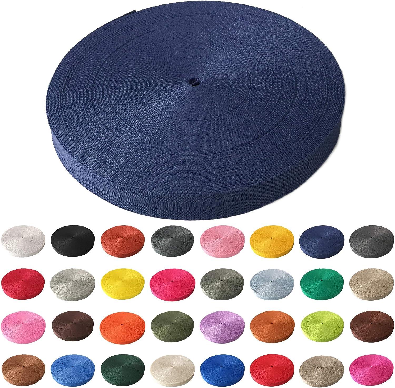 viele Verschiedene Breiten und Farben 10mm 15mm 20mm 25mm 30mm 40mm 50 mm Schnoschi Gurtband Polypropylen 50 Meter lang Creme, 50 mm