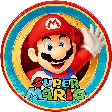 Amazon.com: Super Mario Party Supplies – Platos llanos (8 ...