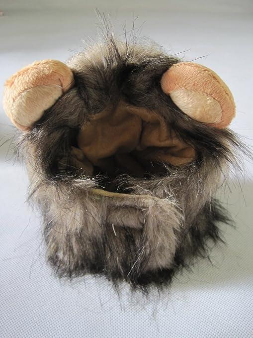 Vedem Lion Mane peluca de gato disfraz Sombrero (L, Moreno/Negro ...