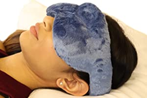 Cooling Eye Compress - Soft Blackout All Natural Aromatherapy for Tension Relaxation, Stress and Pain Relief - Wearable Tension Migraine & Headache Relief - Long Lasting Cooling Therapy