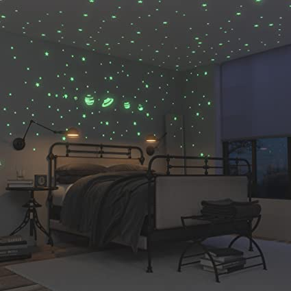Lovely Glow In The Dark Stars Stickers And Planets Supernova: 8 Planets And 40  Ceiling Stars