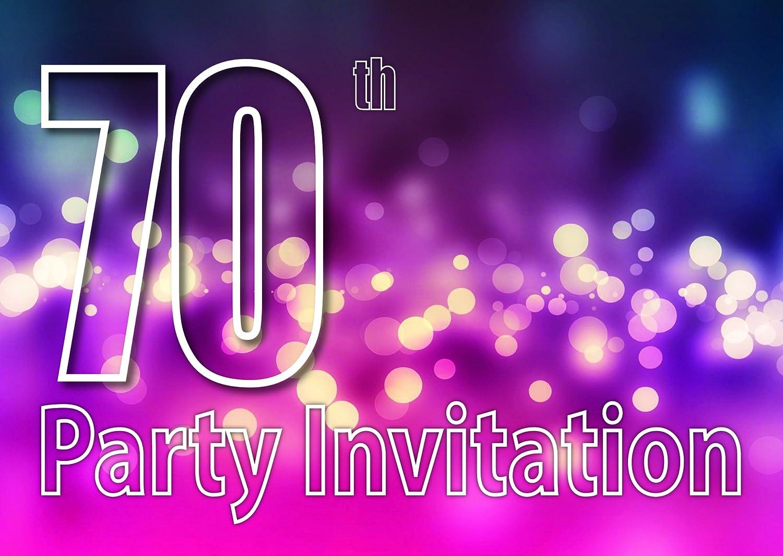 70 Años Reversible Invitaciones De La Fiesta De Cumpleaños
