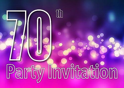 70 años Reversible Invitaciones de la fiesta de cumpleaños ...