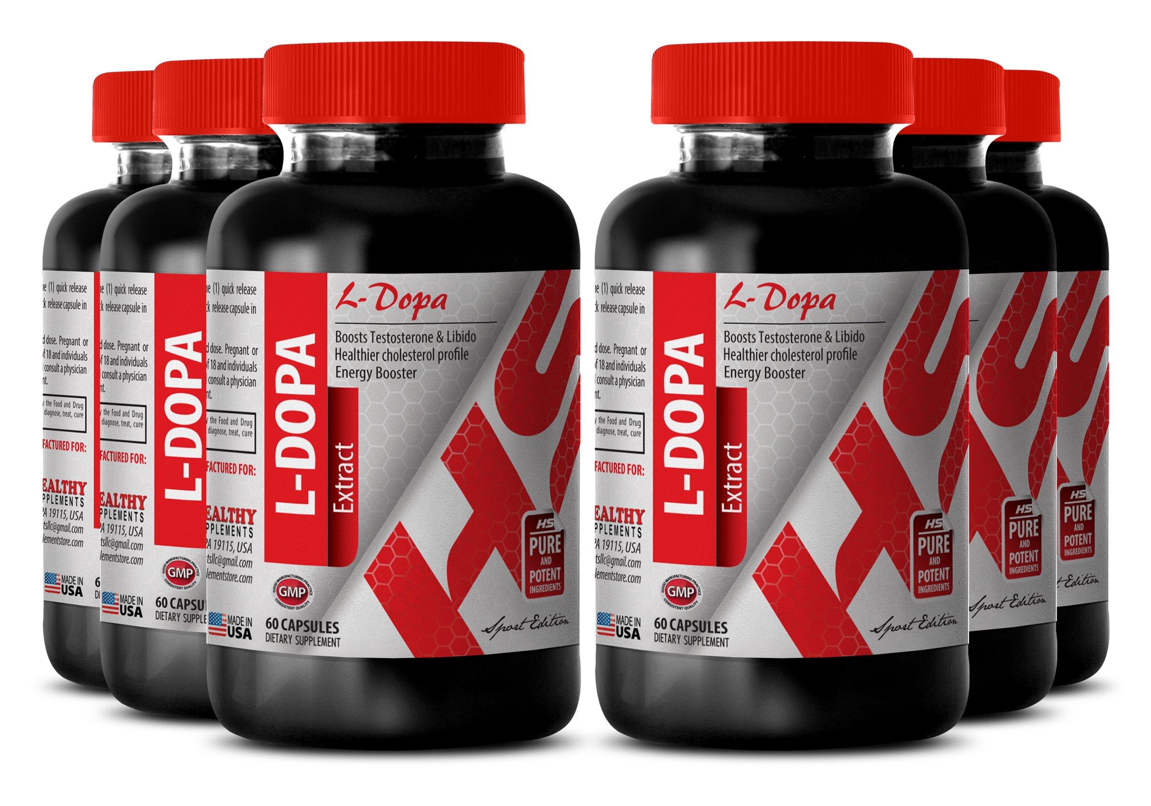 Macuna seeds - L-DOPA MACUNA PRURIENS 350 MG - increase fertility (6 Bottles)