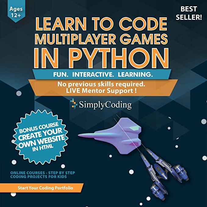 Simply Coding for Kids: Learn to Code Python Multiplayer Adventure Games -  Video Game Design Coding Software - Computer Programming for Kids, Ages