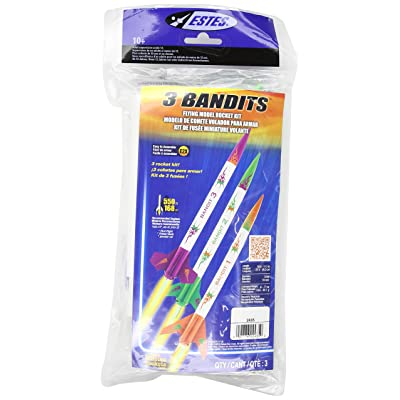 Estes 3 Bandits Model Rocket Kit: Toys & Games