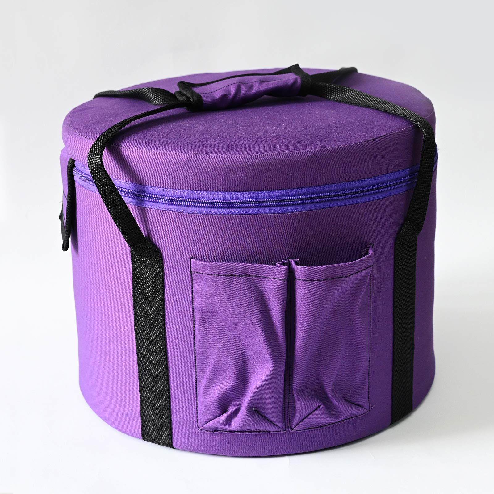 CVNC 10 Inch Purple Color Padded Carrying Case Bag For Putting Frosted Quartz Crystal Singing Bowl