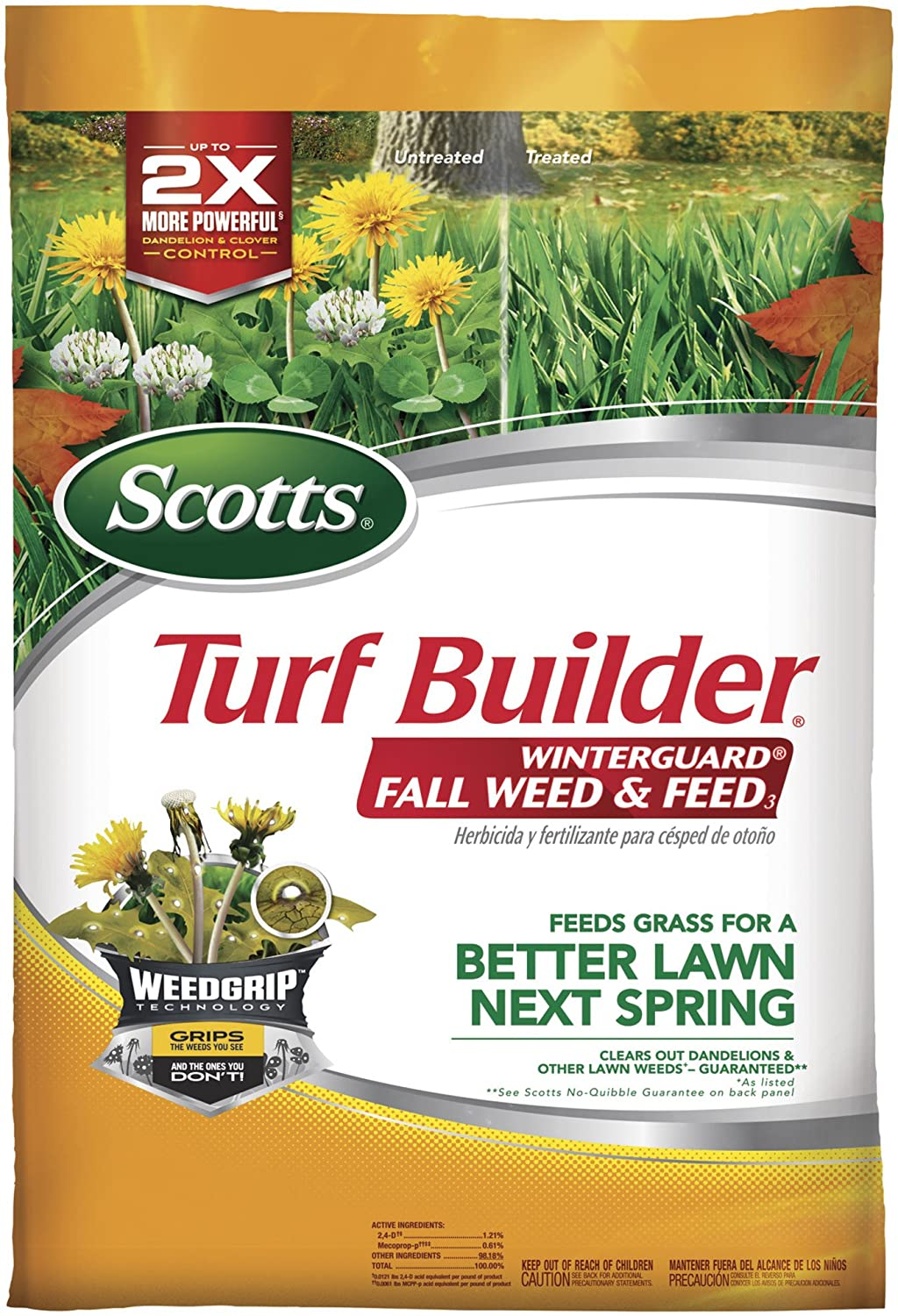 Scotts Turf Builder Winterguard Fall Weed & Feed3, 15,000 sq ft, 42.87 lbs