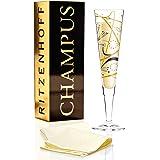 Ritzenhoff Champus, Flûte À Champagne Avec Serviette, Verre À Mousseux, 200 Ml, Design Printemps 2014, Christiane Beauregard, 1070205