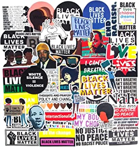 Black Lives Matter,50 Pcs Black Rights Defender African Americans Stickers ACLU Women Rights Sticker BLM Decals for Vinyl Waterproof Bumper Laptop Computer Water Bottles Car Window Suitcase