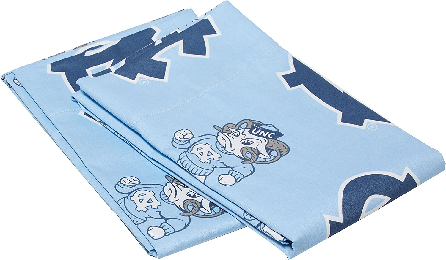 College Covers North Carolina Tar Heels Pillowcase Pair - Solid (Includes 2 Standard Pillowcases)