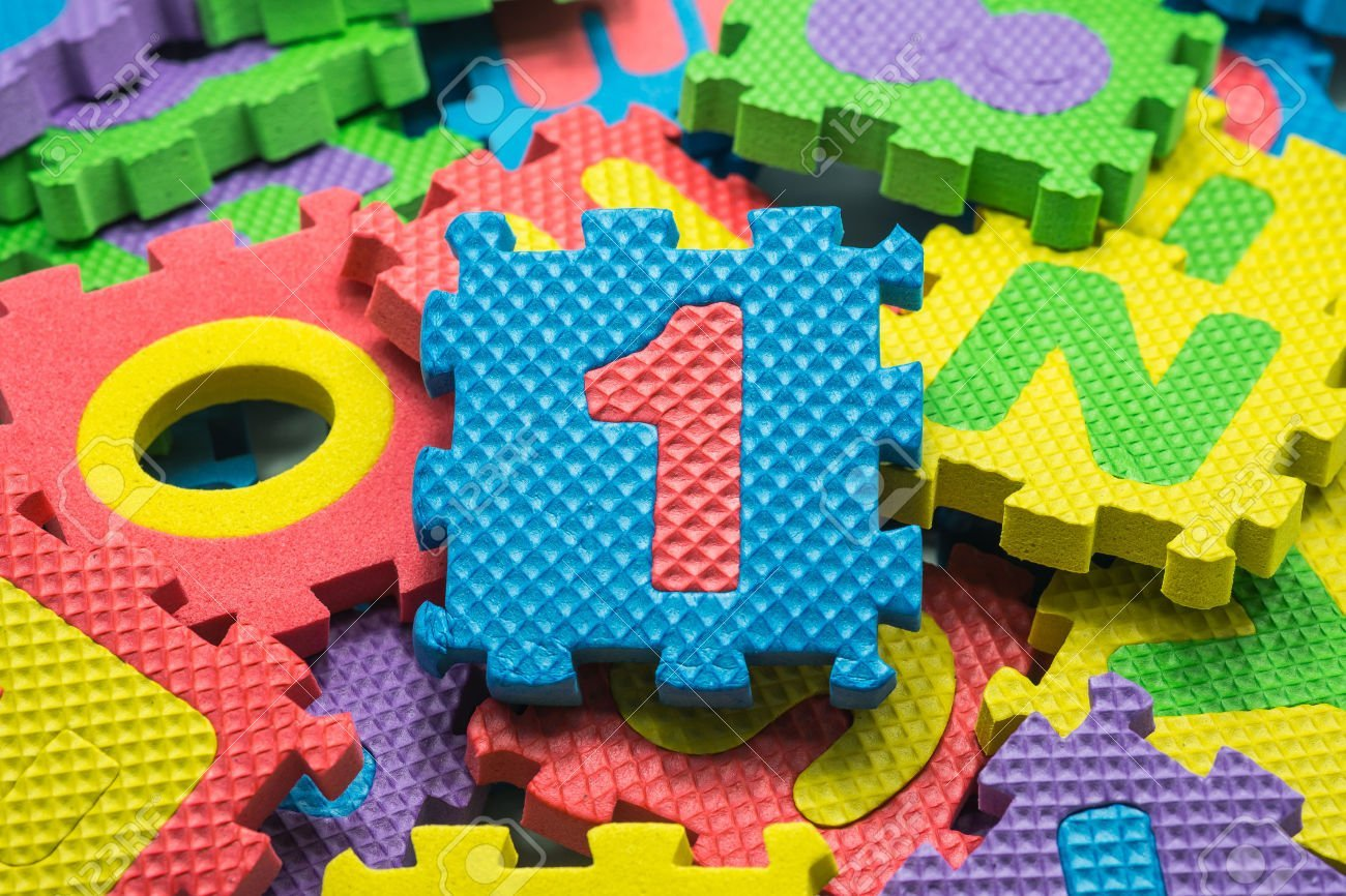 EVA Educational Puzzle Foam Mat Interlocking Alphabet Number 36 Small Blocks 5 by 5 Each block