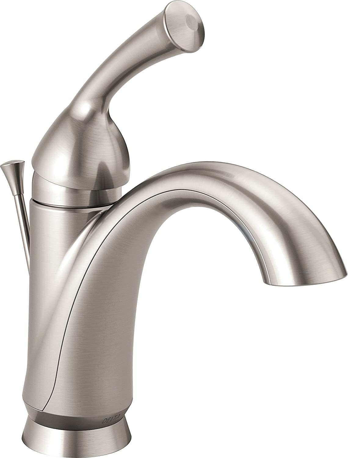 Delta Faucet Haywood Single-Handle Bathroom Faucet with Diamond Seal Technology and Drain Assembly, Stainless 15999-SS-DST