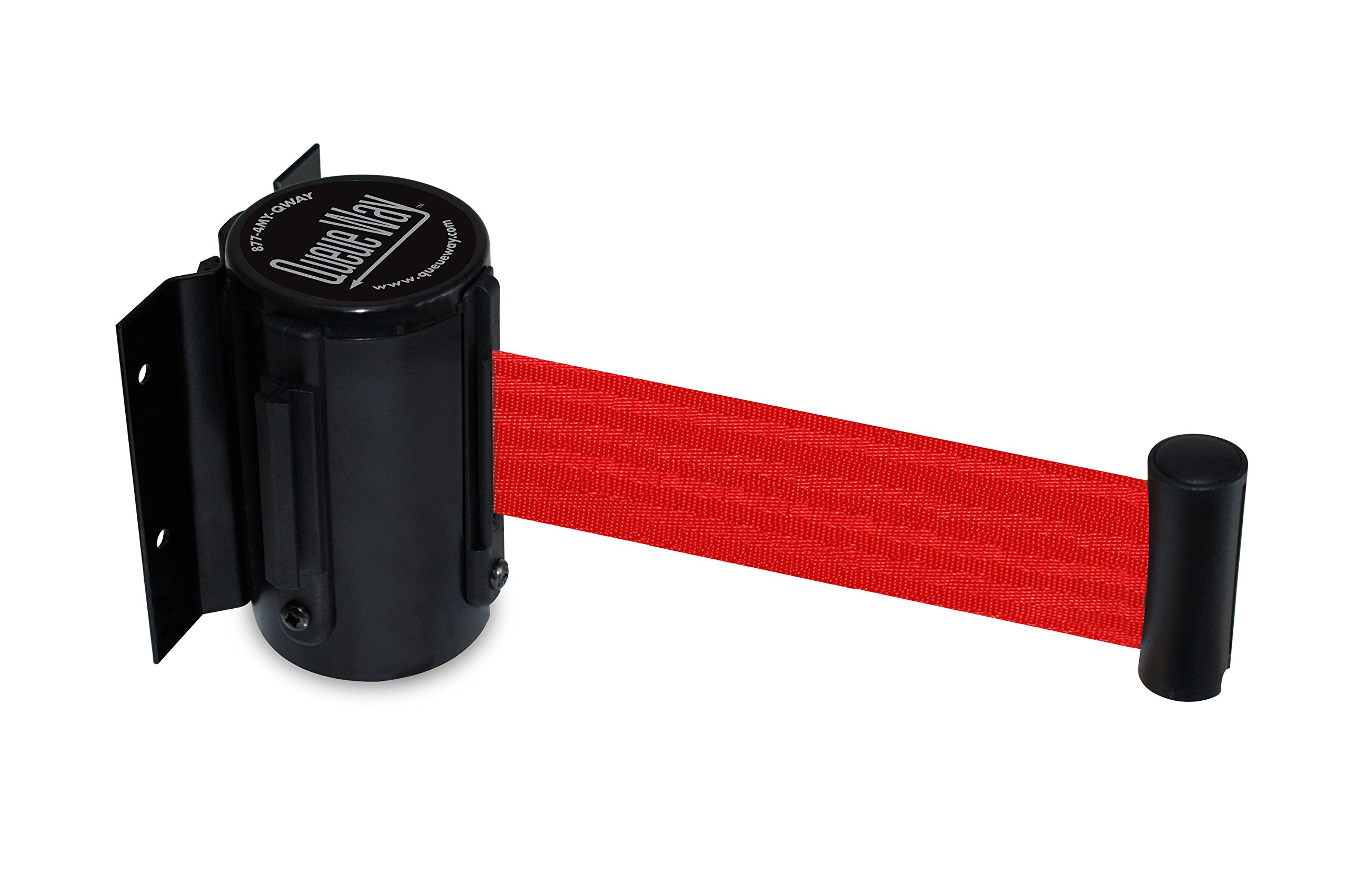 Tensator QWAYWALL-R5 QwayWall - Wall Mounted, Black Finish, Red 7'6'' Belt by Tensator