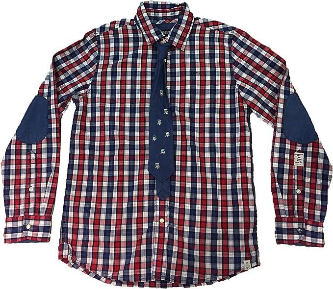 McGregor - Camisa Manga Larga Cuadros con Corbata: Amazon.es: Ropa y accesorios