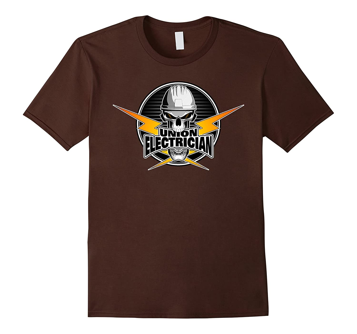Union Electrician Skull and Thunderbolts T-Shirt