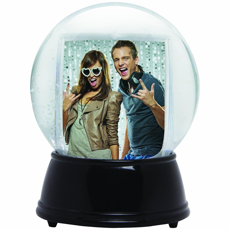 Neil Enterprises Black, Large Inc LED Light Up Photo Snow Globe