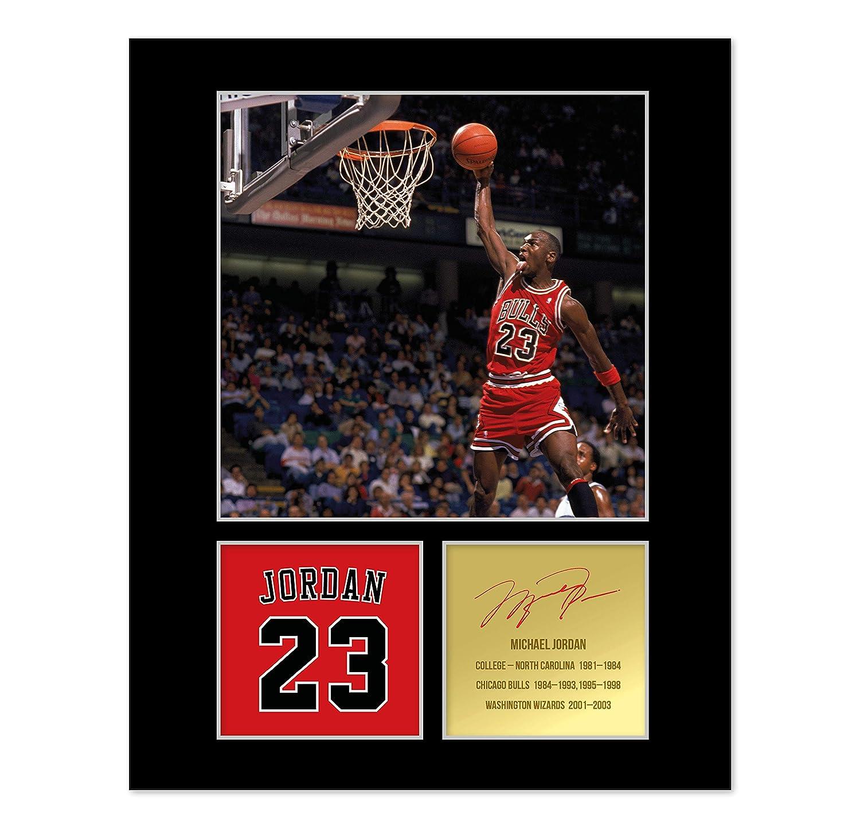 Michael Jordan Chicago Bulls Signiertes Foto, gerahmt: Amazon.de ...