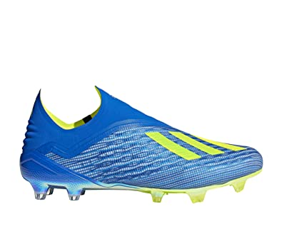 cheap for discount 1c7c7 15877 adidas X 18+ FG, Chaussures de Football Homme, Bleu Fooblu Syello