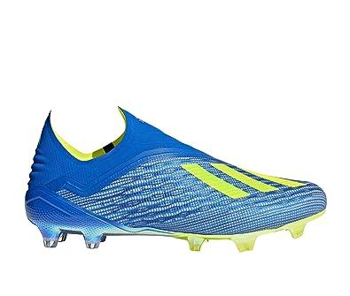 cheap for discount b5b3a 6fc52 adidas X 18+ FG, Chaussures de Football Homme, Bleu Fooblu Syello
