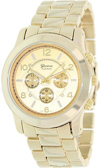 Geneva Platinum 9158.Gold.Gold Mujeres Relojes