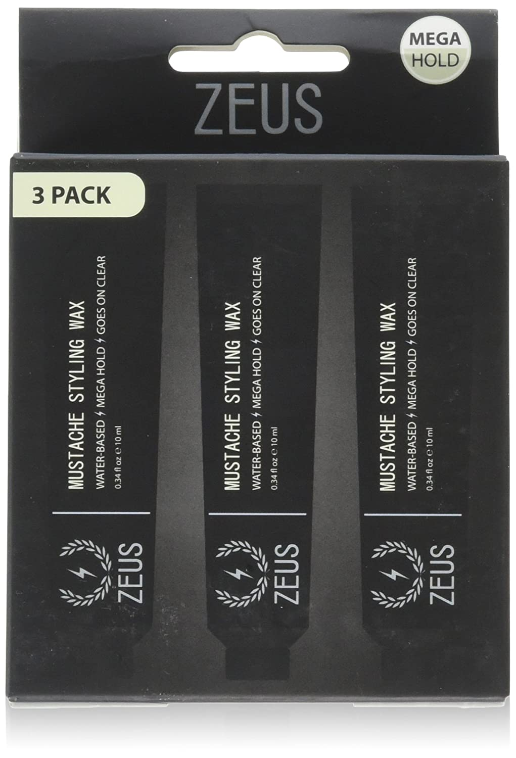 ZEUS Mustache Styling Wax, 3 Count Newport Apothecary Inc.