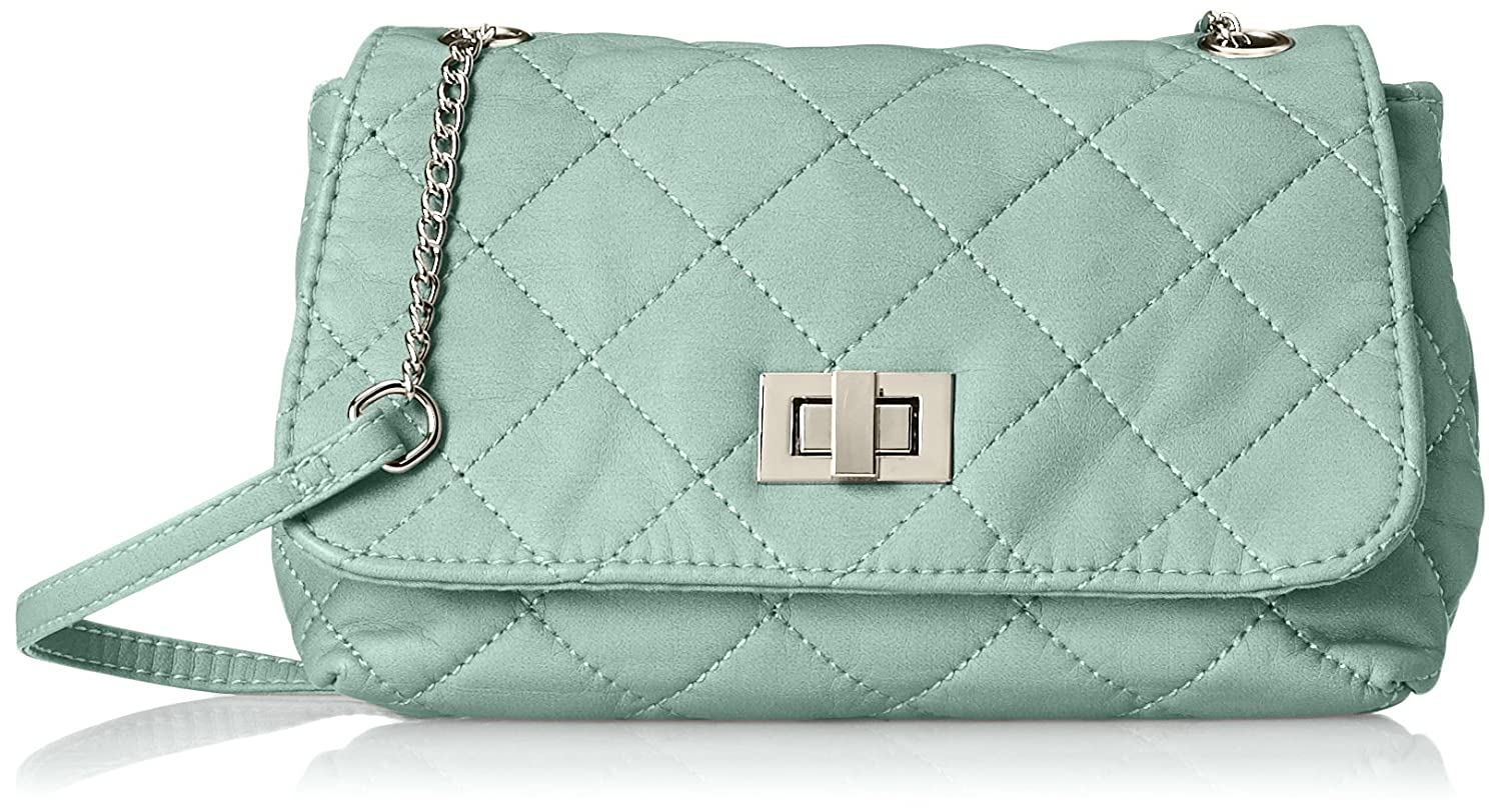 Wild Pair Quilted Washed With Turnlock Closure Cross Body Handbag