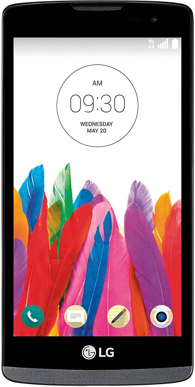 LG Leon H345 8GB T-Mobile 4G LTE Android Smartphone Black (Renewed)