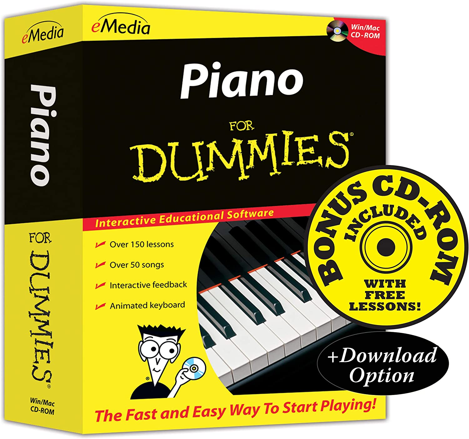 eMedia Piano For Dummies v2 - Amazon Exclusive Edition with 150+ Additional Lessons 81AnZ4NJT2BL