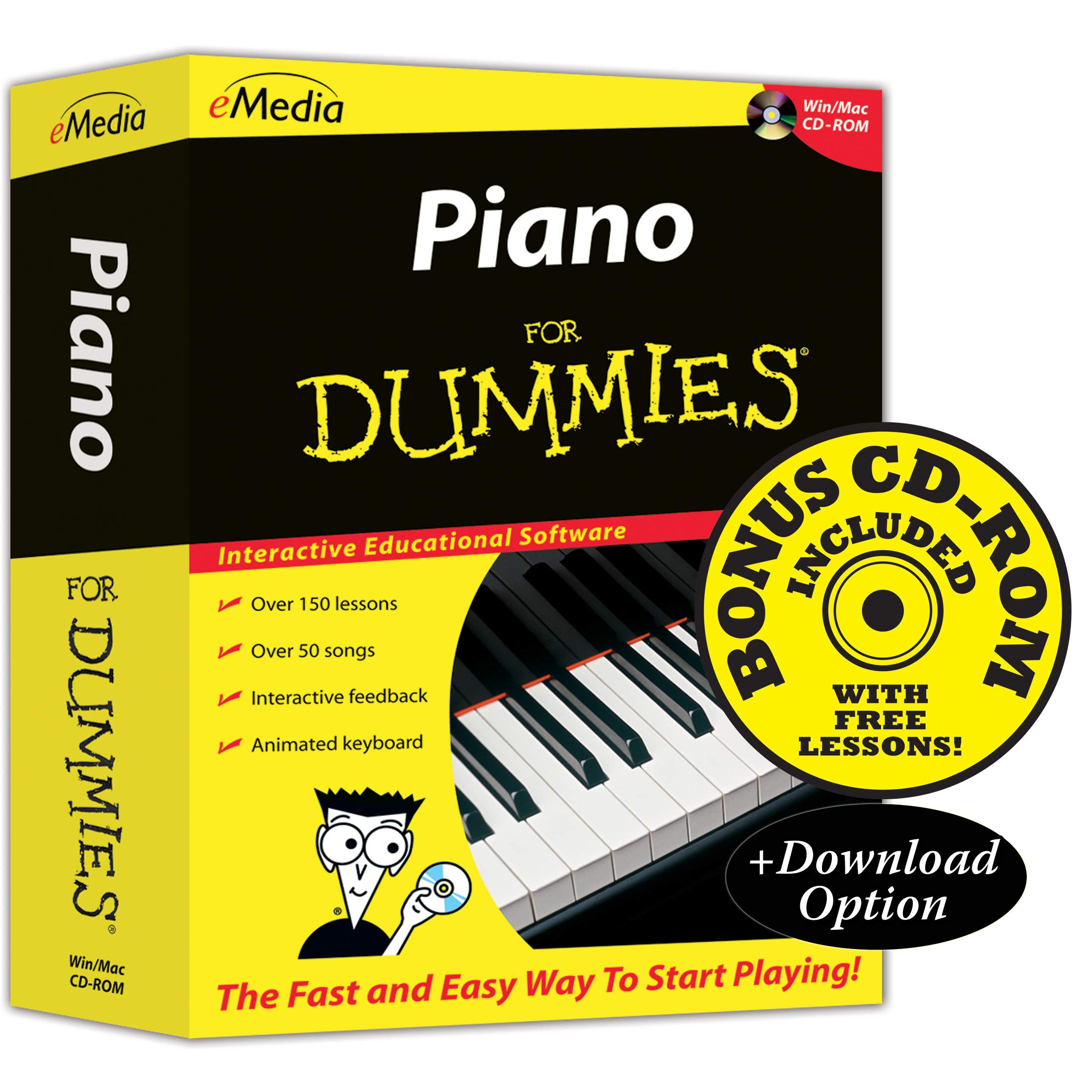 eMedia Piano For Dummies v2 - Amazon Exclusive Edition with 150+ Additional Lessons by eMedia