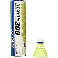 Yonex Mavis 300 Volant de badminton - Jaune (Jaune/Bleu) - Lot de 6