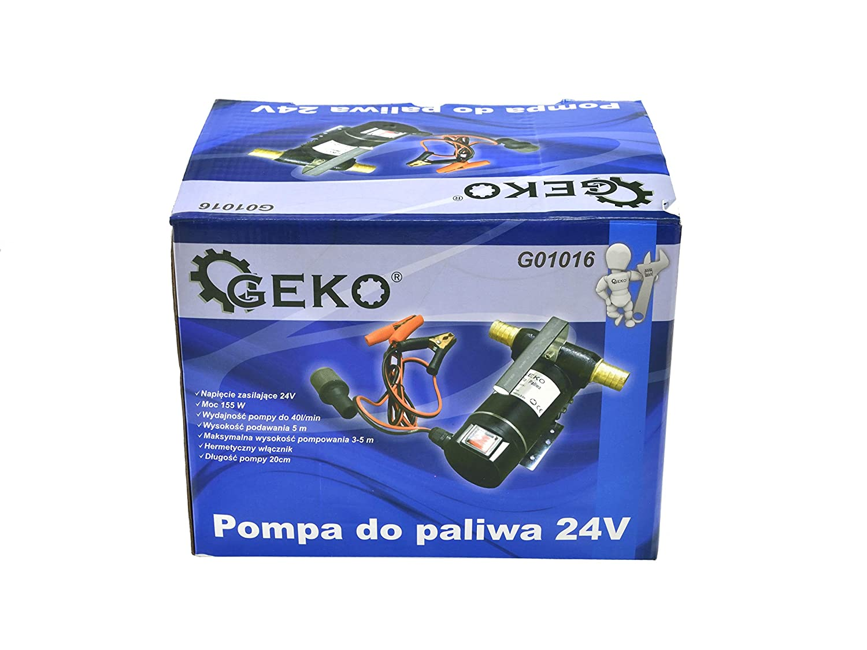Pompa per Transferimento Carburante Pompa di Alimentazione Diesel Gasolio Autoadescante 24V 155W Pompa Elettrica per Diesel Gasolio Pompa Travaso Gasolio 3//4 BSP
