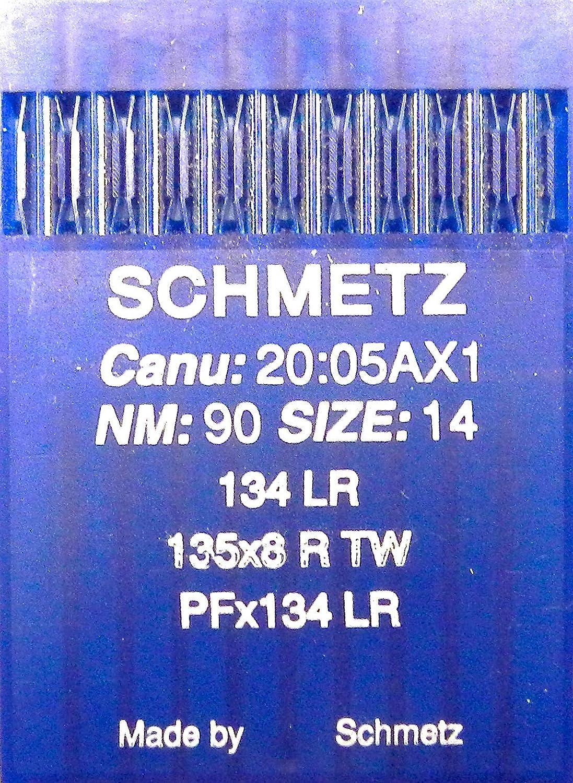 SCHMETZ 10 134 LR Machine /à Coudre en Cuir avec Aiguilles /à Fer Rond /Épaisseur 90
