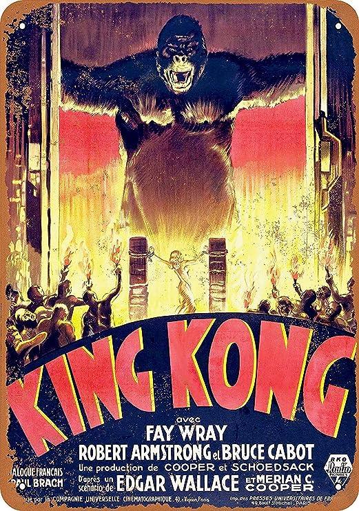 HiSign King Kon Movie Gorilla Retro Cartel de Chapa Coffee ...