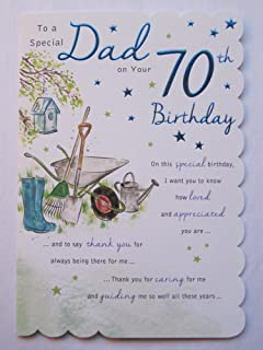 Grandad 70th happy birthday card lots of love to the best grandad stunning top range beautifully worded dad seventy 70th birthday greeting card bookmarktalkfo Image collections