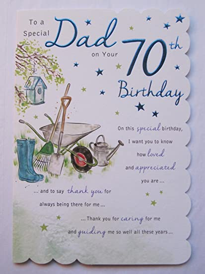 STUNNING TOP RANGE BEAUTIFULLY WORDED DAD SEVENTY 70TH BIRTHDAY GREETING CARD Amazoncouk Kitchen Home