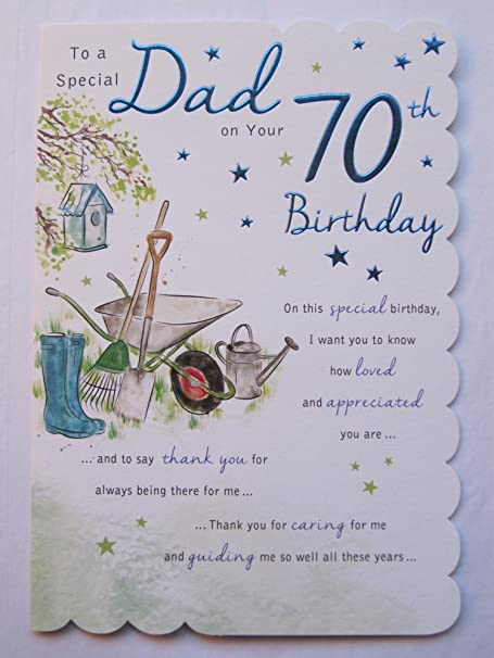 STUNNING TOP RANGE BEAUTIFULLY WORDED DAD SEVENTY 70TH BIRTHDAY GREETING CARD