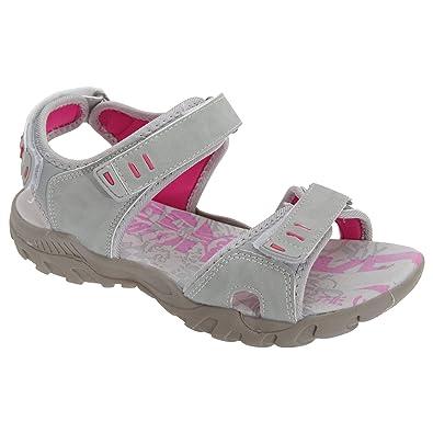 PDQ Damen Sport Sandale / Trekkingsandale mit Klettverschluss (40 EU) (Schwarz) 0yCjhon7Kf