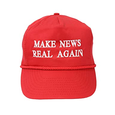 Make News Real Again Baseball Cap - Men s and Women s Funny Hat ... dff0881624a