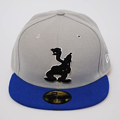 New Era 59fifty Disney Pop Up Goofy Cartoon Grey Royal Blue Flat Peak Fitted  Cap 441c80712299